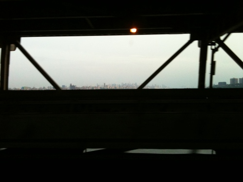 New York City skyline from the George Washington Bridge